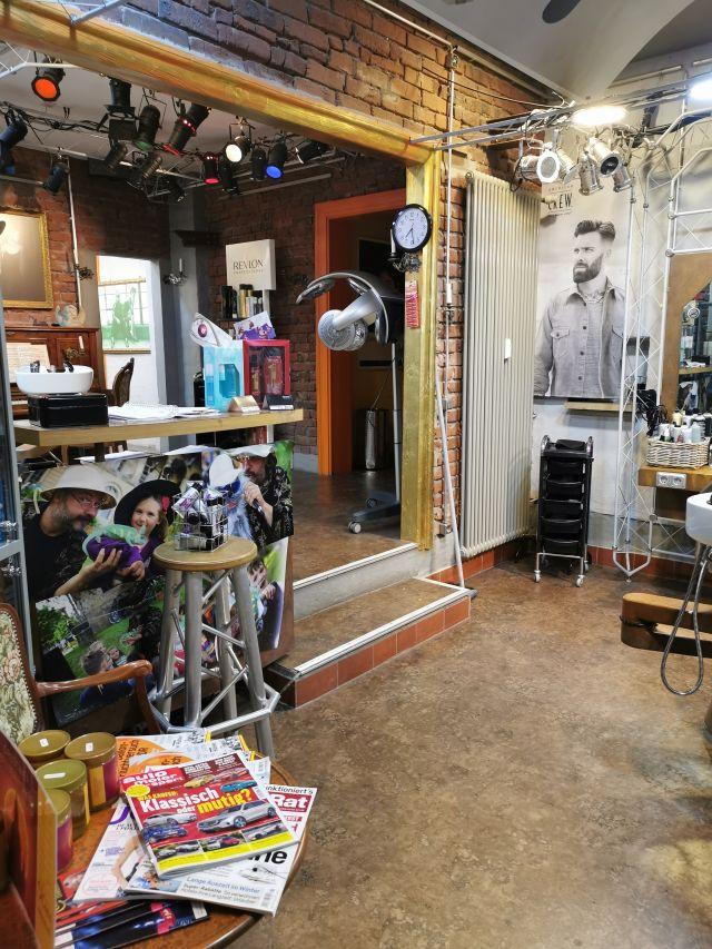 Friseurtheater Eingangsbereich